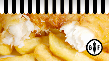 Whiteheads fish and chips - we care about our gluten free options
